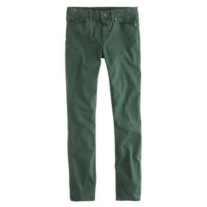 Jcrew green toothpick jeans