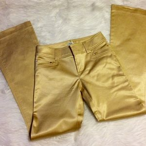 Caché Gold Bombshell Wide Leg Jeans