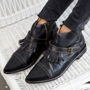 Bed Stu Shoes - BED STU Black Leather Ankle Booties Bohemian Shoes