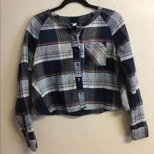 Cropped Flannel, Urban Outfitters