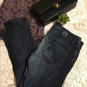 Rock & Republic Denim - Rock & Republic dark wash skinny jeans size 27