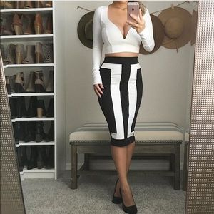 Dresses & Skirts - RESERVED BUNDLE Black and white pencil skirt