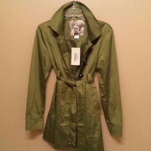 Mac & Jac Palm Green Trench Coat