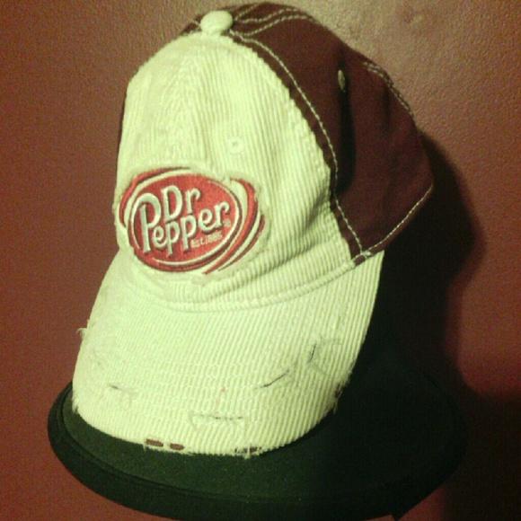 0905a3925ab Dr Pepper Accessories - Vintage retro Distressed Dr Pepper Cap Hat