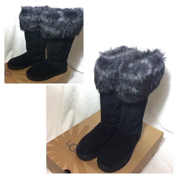 f47e1635767 New UGG Womens Rosana Boots in Black $135 on Ⓜ️ NWT