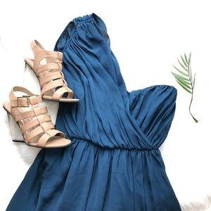 Tibi Dresses & Skirts - TIBI ONE-SHOULDER DRAPED SILK DRESS