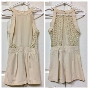 Pants - Mustard seed lace romper