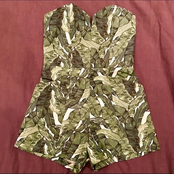 8cf2e96eeee H M Dresses   Skirts - H M Banana Leaf Jumpsuit Romper ...