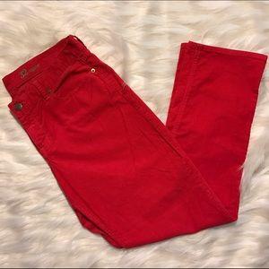 J. Crew Pants - J. Crew Matchstick Red Corduroy Pants