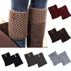 ✨ Crochet Button Boot Cuffs Toppers Leg Warmers
