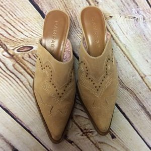 Rampage Shoes - 🎉HP🎉RAMPAGE LEATHER WESTERN RUSTEE  MULES/SHOES