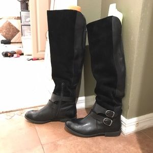 Shoes - Lucky brand leather over the knee boots