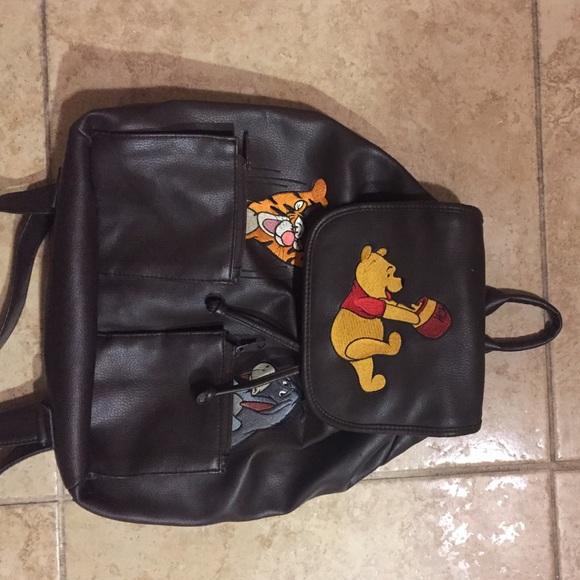 Disney Handbags - Vintage leather Winnie the Pooh backpack