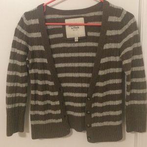 Abercrombie knit short cardigan