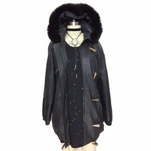 Vintage Jackets & Blazers - VINTAGE LEATHER AND FUR INSULATED LEATHER COAT!!