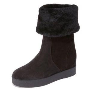 Ferragamo Shoes - 'FERRAGAMO 'FALCON' PLATFORM WEDGE BOOTS.