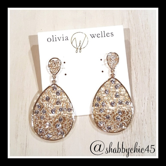Olivia Welles Jewelry - Olivia Welles Lorene Gold & Crystal Earrings