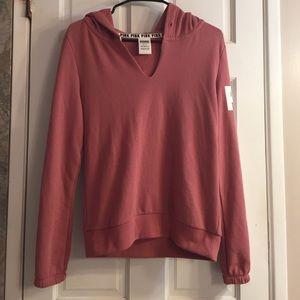 PINK Victoria's Secret Sweaters - PINK Begonia Split Neck Pullover