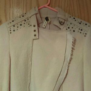 Free People Jackets & Blazers - NWOT Free People Studded Cropped Moto Jacket