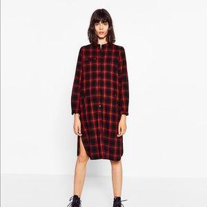 Zara Long Shirt Dress