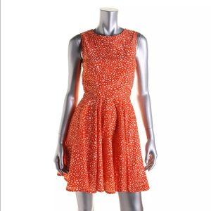 Maison Jules Orange Patterned Sleeveless Aline M
