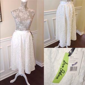 Sam Edelman textured White Skirt