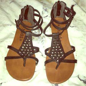 f8e2fd0e9b5 Mudd Shoes - Black studded gladiator sandals