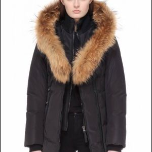 Mackage Fur Jacket Black Small