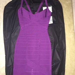 Herve Leger Dresses & Skirts - HERVE LEGER purple dress