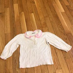 Osh Kosh Other - White with pink collared Oshkosh long sleeve 2t
