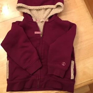 Lands' End Other - Lands End Sherpa zip up hoodie in purple size 4t