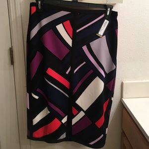 NWT Worthington multi colored pencil skirt