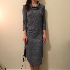 Anthropologie Dresses & Skirts - Saturday Sunday Anthro Blue Knit Midi Dress