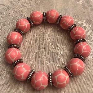 Angela Moore Jewelry - Angela Moore Bracelet-pink/white