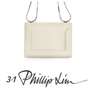 3.1 PHILLIP LIM mini soleil white leather purse