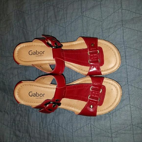 wie man bestellt Shop für echte neueste trends Gabor RED wedge sandals