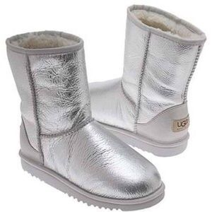 UGG Shoes - UGG Classic Short Silver Boots