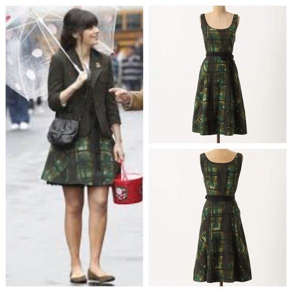 b2f9bc72351d Anthropologie Dresses | Painted Plaid Dress By Maeve | Poshmark