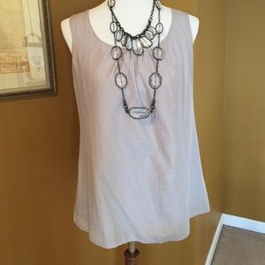 LOFT Gray sleeveless Blouse