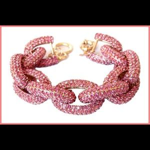 Jewelry - Rose Crystals Women Chunky Crew J Link Bracelet