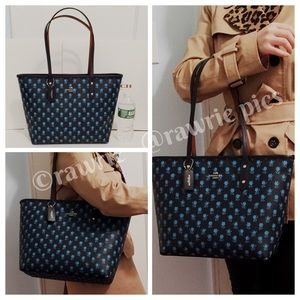 LOWEST New Coach multi floral city zip top tote