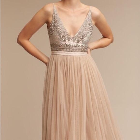 e5bce06f0334 Anthropologie Dresses & Skirts - BHLDN - Brisa Dress - Nude - Size 6