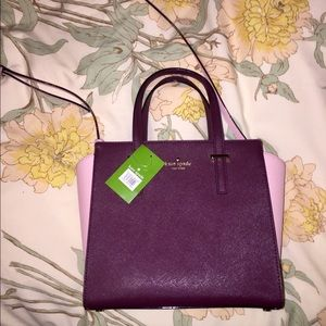 NWT kate spade pink and burgundy purse