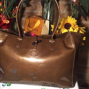 Longchamp Handbags - Longchamp Patent Tote Bag