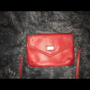 Red clutch Nine West purse