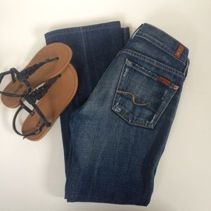 7 For All Mankind Denim - 7 For All Mankind Slightly Disressed Jeans Size 25