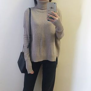 Warm grey turtle neck sweater