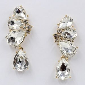 "Bedecked & Bedazzled Jewelry - ""Amanda"" Drop Dangle Crystal Statement Earrings"