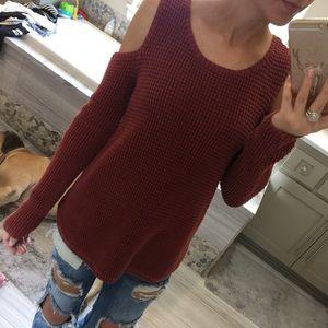 Knox Rose Tops - Cold Shoulder Sweater