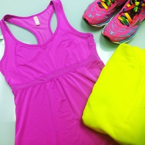 Lucy Tops - Lucy Fuchsia Breathable Running Tank